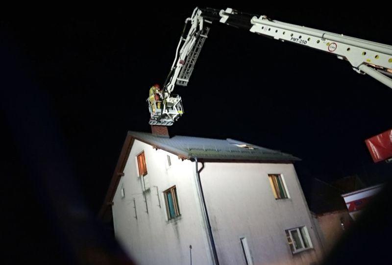 Pożar komina w Kleszczyńcu