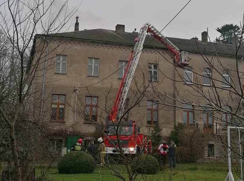 Pożar przewodu kominowego w Jerzkowicach