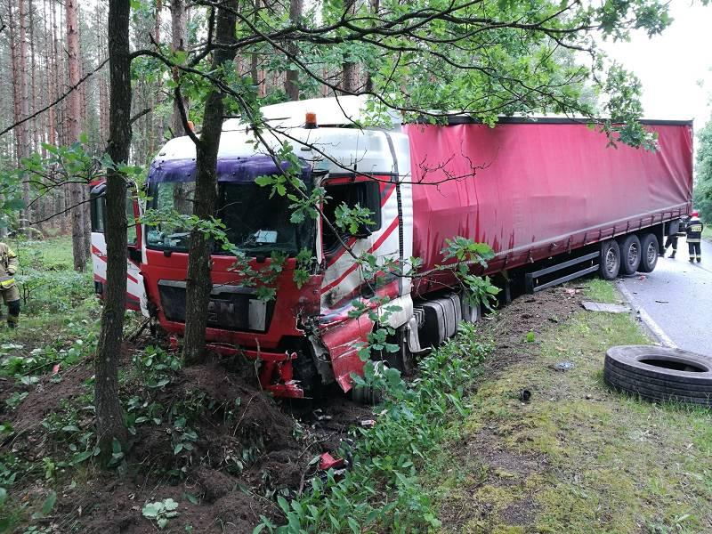 Wypadek drogowy na trasie czarna Dąbrówka-Łupawa